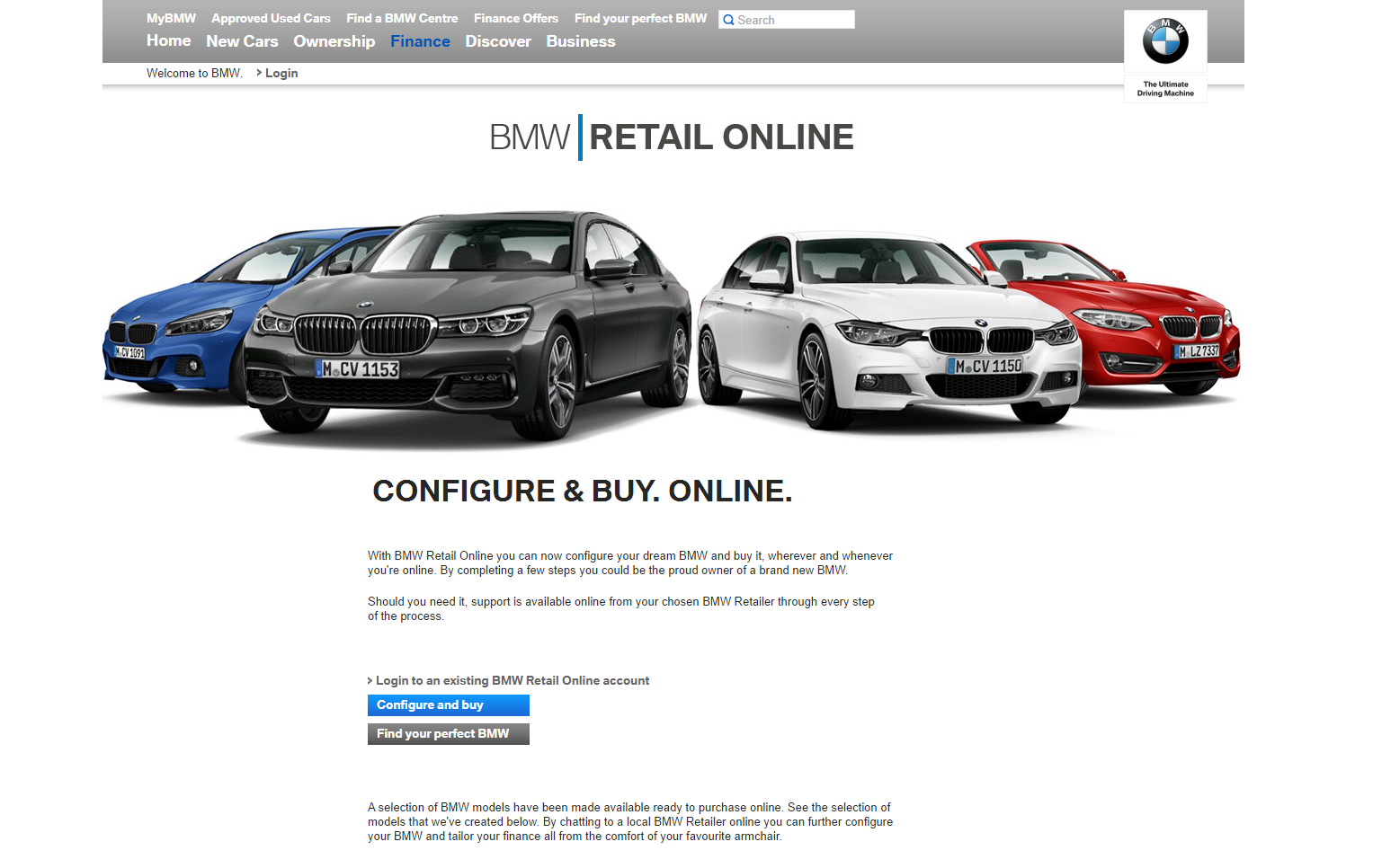 Launched in November 2015, BMW UK offers the online audience a complete  end-to-end car purchase experience. Only the final paperwork needs to be  completed ... 4e4c4b421b